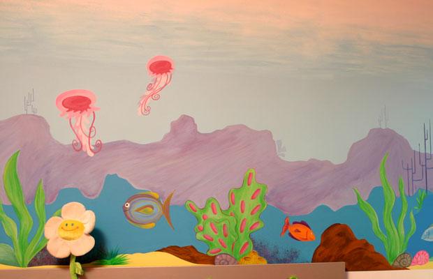 Deco Chambre Kirikou : Peinture murale chambre enfant grassement couleur mur