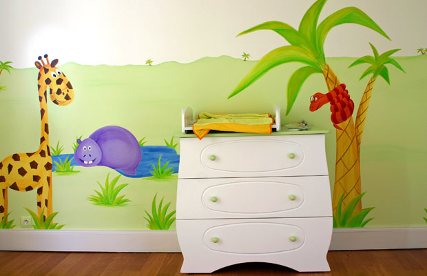 Stunning mur chambre enfant photos awesome interior home for Fresque murale chambre bebe