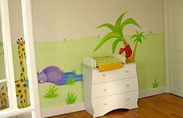 Dcoration murale chambre bb enchanteur dcoration for Decoration murale chambre bebe
