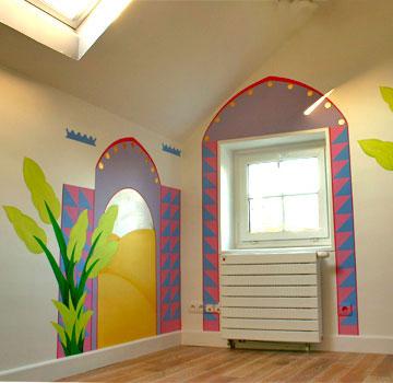 Sabine design sabine design d coration enfant peintures murales enfants peinture pour for Peinture murale chambre enfant
