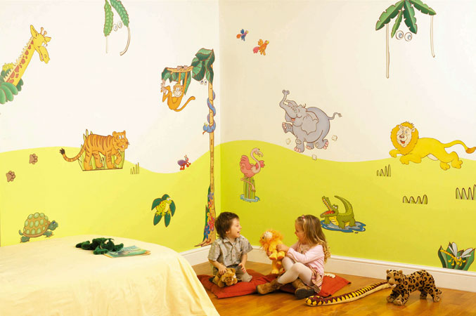 sticker mural chambre fille enfants stickers muraux grand. Black Bedroom Furniture Sets. Home Design Ideas