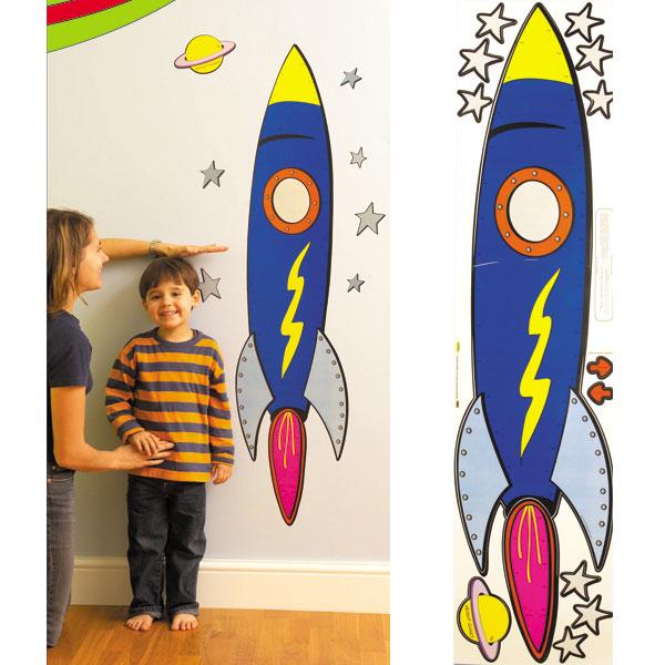 Galerie-Archives Autocollants muraux decoratifs enfant, Toise Fusee