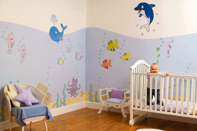 D co chambre bebe mer for Decoration chambre ocean